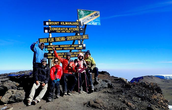 Bucket List Group at the Uhuru peak Tanzania