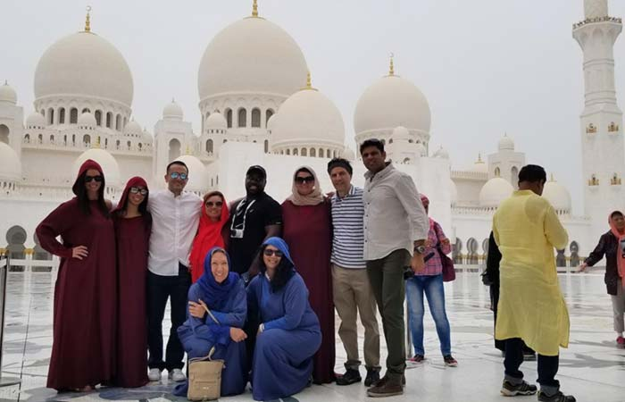 Bucket List Group at Sheikh Zayed Mosque Abu Dhabi