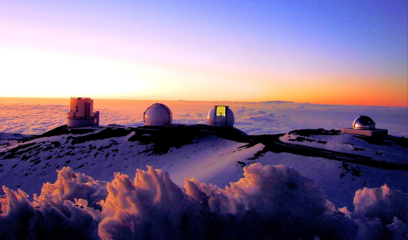 Sunset on Mauna Kea Volcano