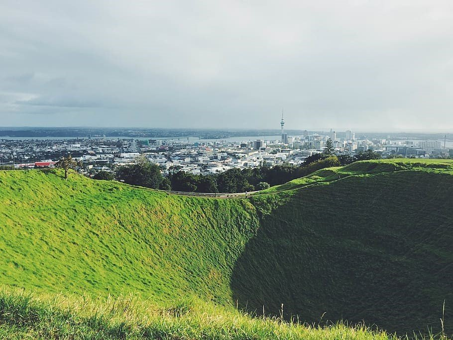 Breathtaking view from Auckland's highest volcanic cone