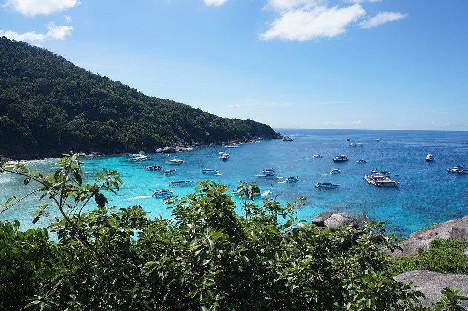 Play in the white coral-sand beaches of Similan Islands